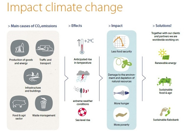 Impact climate change infographic